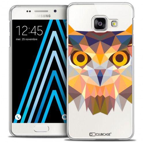 Coque Crystal Galaxy A3 2016 (A310) Extra Fine Polygon Animals - Hibou