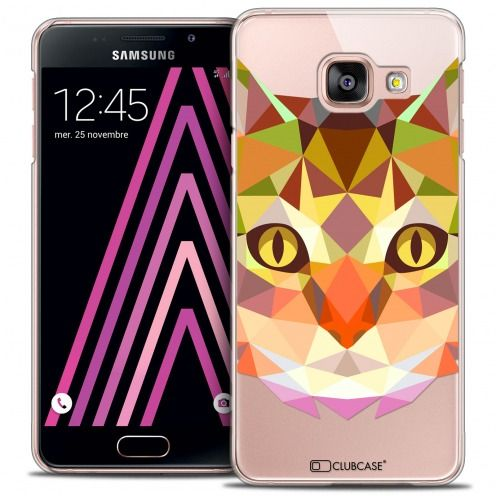 Coque Crystal Galaxy A3 2016 (A310) Extra Fine Polygon Animals - Chat