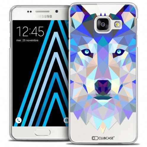 Coque Crystal Galaxy A3 2016 (A310) Extra Fine Polygon Animals - Loup