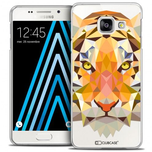 Coque Crystal Galaxy A3 2016 (A310) Extra Fine Polygon Animals - Tigre