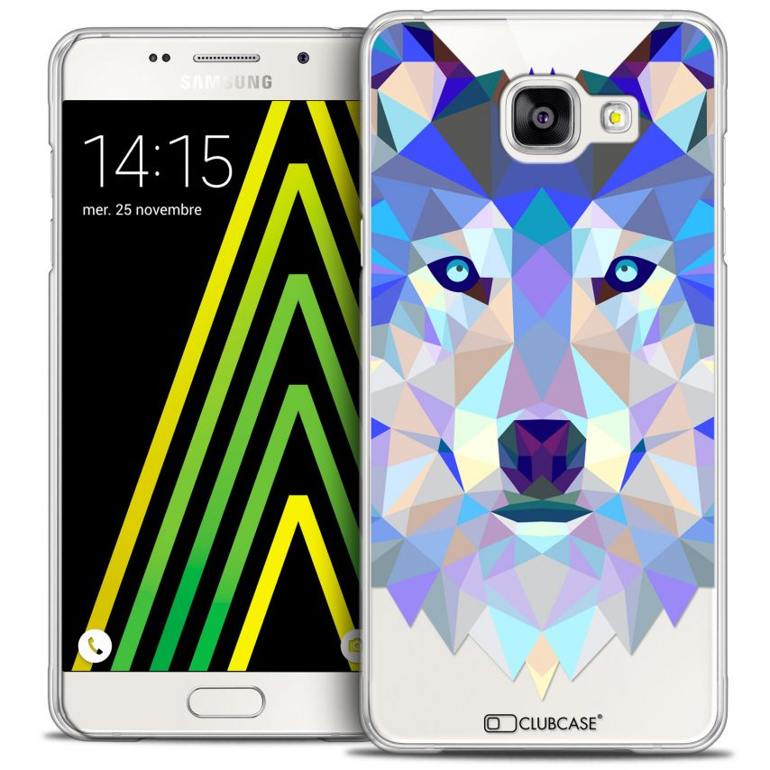 Coque Crystal Galaxy A5 2016 (A510) Extra Fine Polygon Animals - Loup