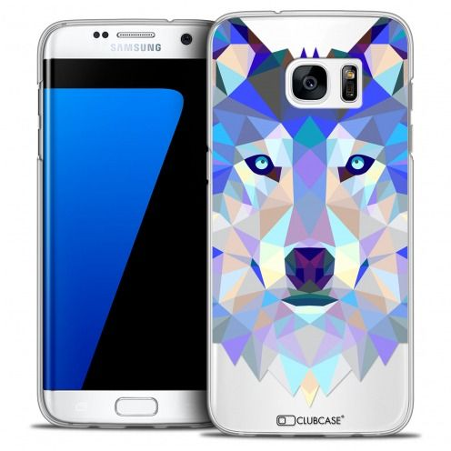 Coque Crystal Galaxy S7 Edge Extra Fine Polygon Animals - Loup