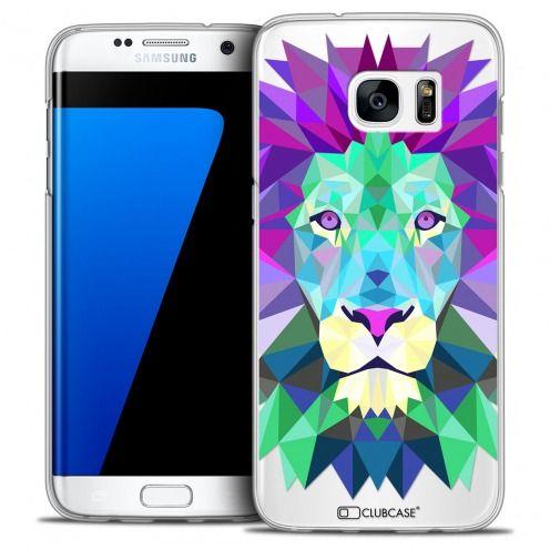 Coque Crystal Galaxy S7 Edge Extra Fine Polygon Animals - Lion