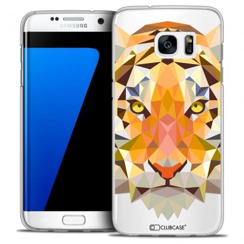 Coque Crystal Galaxy S7 Edge Extra Fine Polygon Animals - Tigre