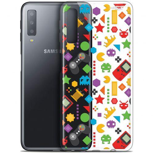"Coque Gel Samsung Galaxy A7 2018 (A750) (6"") Extra Fine Motif - PacMan"