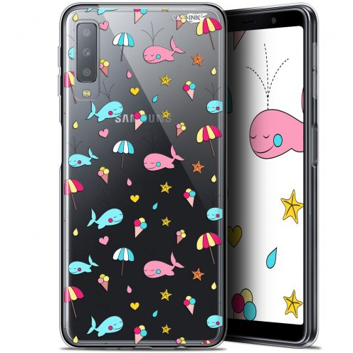 "Coque Gel Samsung Galaxy A7 2018 (A750) (6"") Extra Fine Motif - Baleine à la Plage"