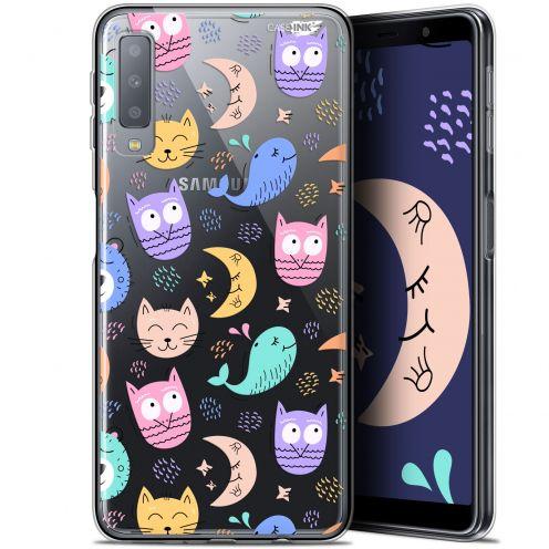 """Coque Gel Samsung Galaxy A7 2018 (A750) (6"""") Extra Fine Motif -  Chat Hibou"""