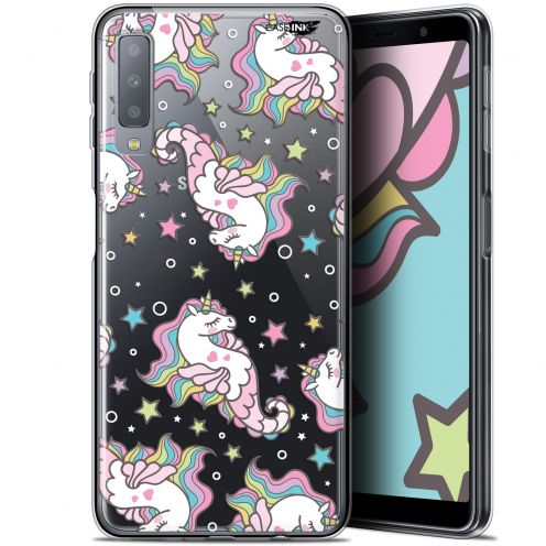 "Coque Gel Samsung Galaxy A7 2018 (A750) (6"") Extra Fine Motif -  Licorne Dormante"