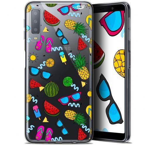 "Coque Gel Samsung Galaxy A7 2018 (A750) (6"") Extra Fine Motif -  Summers"