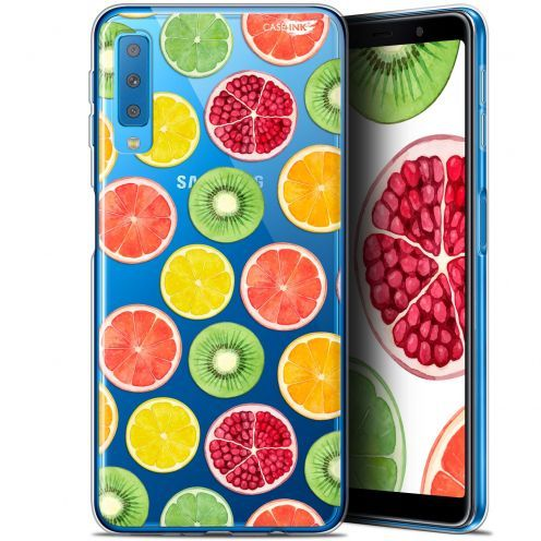"""Coque Gel Samsung Galaxy A7 2018 (A750) (6"""") Extra Fine Motif -  Fruity Fresh"""