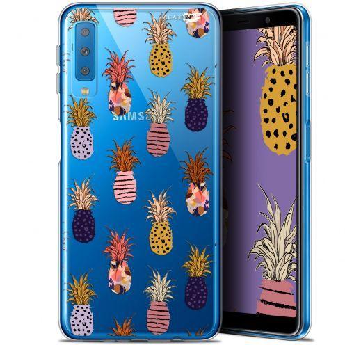 "Coque Gel Samsung Galaxy A7 2018 (A750) (6"") Extra Fine Motif -  Ananas Gold"