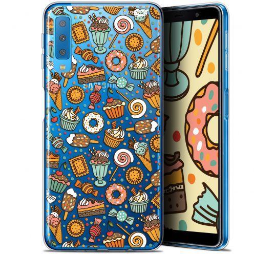 "Coque Gel Samsung Galaxy A7 2018 (A750) (6"") Extra Fine Motif -  Bonbons"