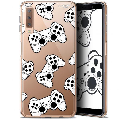"Coque Gel Samsung Galaxy A7 2018 (A750) (6"") Extra Fine Motif -  Game Play Joysticks"