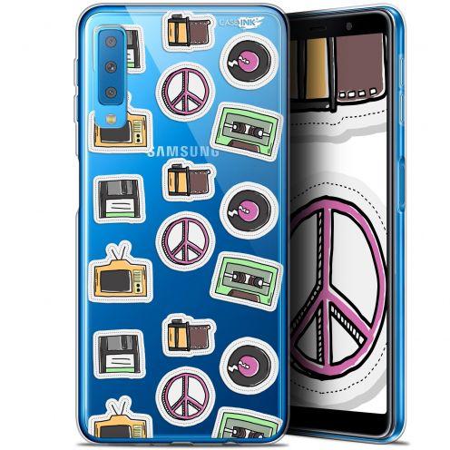 "Coque Gel Samsung Galaxy A7 2018 (A750) (6"") Extra Fine Motif -  Vintage Stickers"