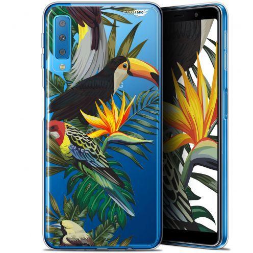 """Coque Gel Samsung Galaxy A7 2018 (A750) (6"""") Extra Fine Motif -  Toucan Tropical"""