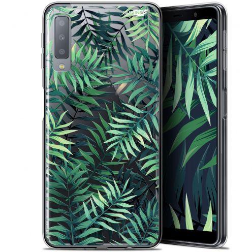 """Coque Gel Samsung Galaxy A7 2018 (A750) (6"""") Extra Fine Motif -  Feuilles des Tropiques"""