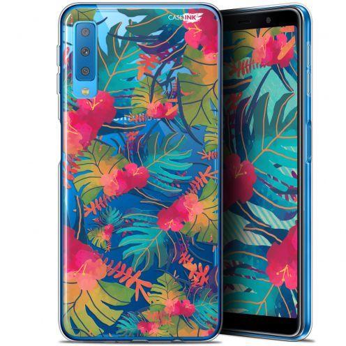 "Coque Gel Samsung Galaxy A7 2018 (A750) (6"") Extra Fine Motif -  Couleurs des Tropiques"