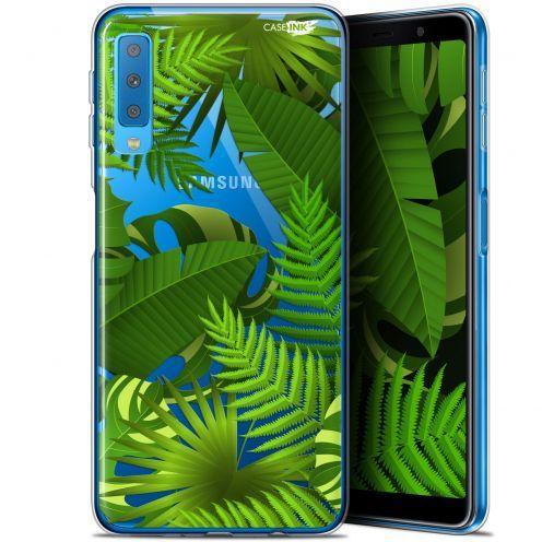"Coque Gel Samsung Galaxy A7 2018 (A750) (6"") Extra Fine Motif -  Plantes des Tropiques"