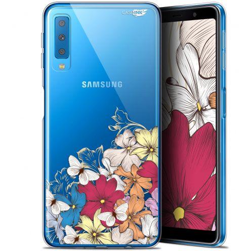 "Coque Gel Samsung Galaxy A7 2018 (A750) (6"") Extra Fine Motif -  Nuage Floral"
