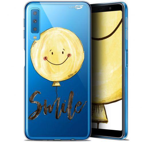 "Coque Gel Samsung Galaxy A7 2018 (A750) (6"") Extra Fine Motif -  Smile Baloon"