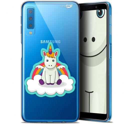 """Coque Gel Samsung Galaxy A7 2018 (A750) (6"""") Extra Fine Motif -  Bébé Licorne"""