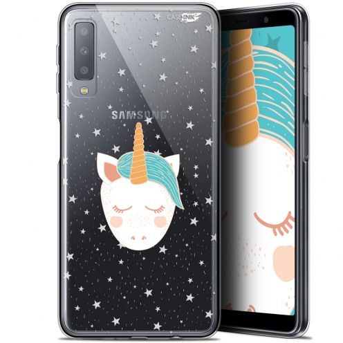 """Coque Gel Samsung Galaxy A7 2018 (A750) (6"""") Extra Fine Motif -  Licorne Dors"""