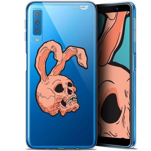 "Coque Gel Samsung Galaxy A7 2018 (A750) (6"") Extra Fine Motif -  Rabbit Skull"