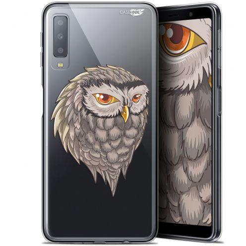 """Coque Gel Samsung Galaxy A7 2018 (A750) (6"""") Extra Fine Motif -  Hibou Draw"""
