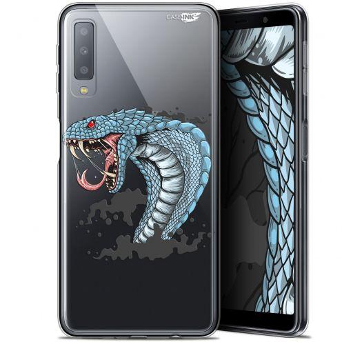 "Coque Gel Samsung Galaxy A7 2018 (A750) (6"") Extra Fine Motif -  Cobra Draw"
