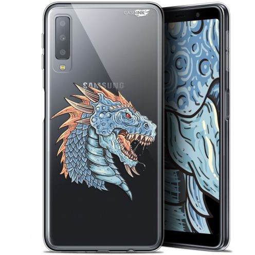"Coque Gel Samsung Galaxy A7 2018 (A750) (6"") Extra Fine Motif - Dragon Draw"