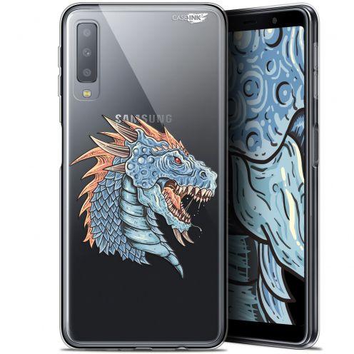 """Coque Gel Samsung Galaxy A7 2018 (A750) (6"""") Extra Fine Motif -  Dragon Draw"""