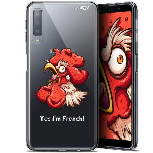 """Coque Gel Samsung Galaxy A7 2018 (A750) (6"""") Extra Fine Motif -  I'm French Coq"""