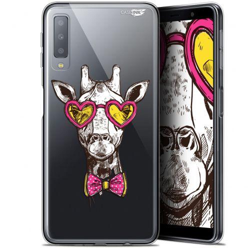 """Coque Gel Samsung Galaxy A7 2018 (A750) (6"""") Extra Fine Motif -  Hipster Giraffe"""
