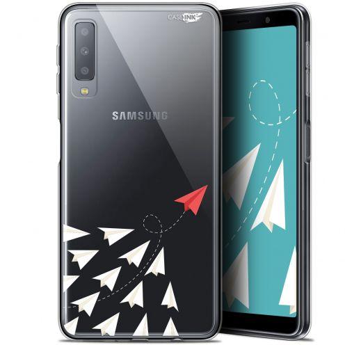 """Coque Gel Samsung Galaxy A7 2018 (A750) (6"""") Extra Fine Motif -  Papier Volant"""