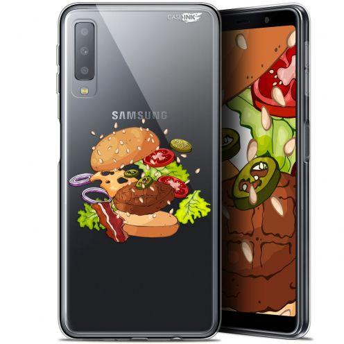 "Coque Gel Samsung Galaxy A7 2018 (A750) (6"") Extra Fine Motif -  Splash Burger"
