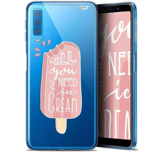 "Coque Gel Samsung Galaxy A7 2018 (A750) (6"") Extra Fine Motif -  Ice Cream"