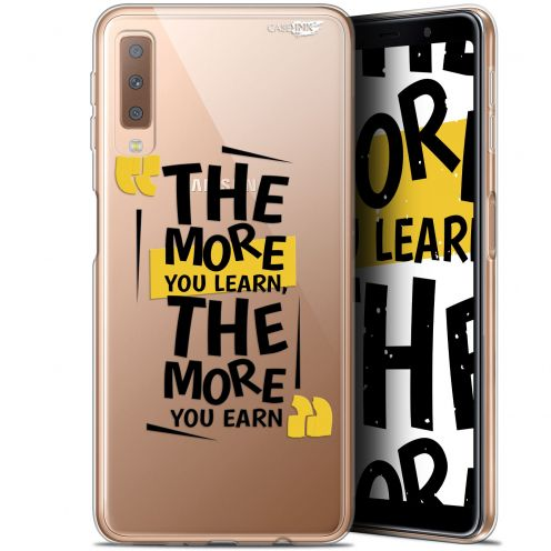 """Coque Gel Samsung Galaxy A7 2018 (A750) (6"""") Extra Fine Motif -  The More You Learn"""