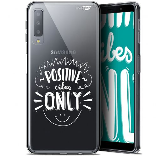 """Coque Gel Samsung Galaxy A7 2018 (A750) (6"""") Extra Fine Motif -  Positive Vibes Only"""