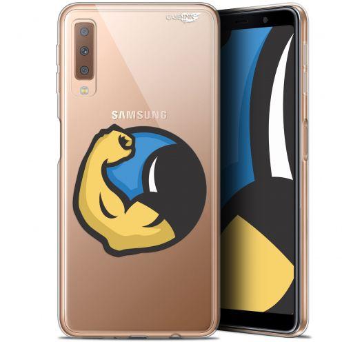 "Coque Gel Samsung Galaxy A7 2018 (A750) (6"") Extra Fine Motif -  Monsieur Muscle"