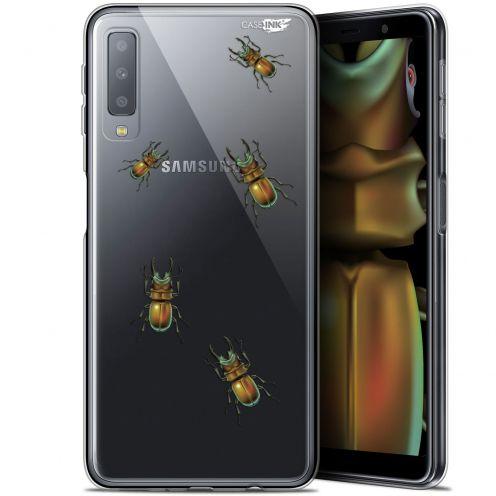 """Coque Gel Samsung Galaxy A7 2018 (A750) (6"""") Extra Fine Motif -  Petits Scarabés"""