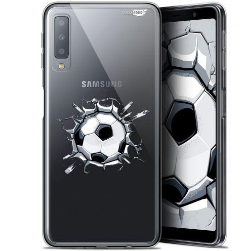 "Coque Gel Samsung Galaxy A7 2018 (A750) (6"") Extra Fine Motif -  Le Balon de Foot"