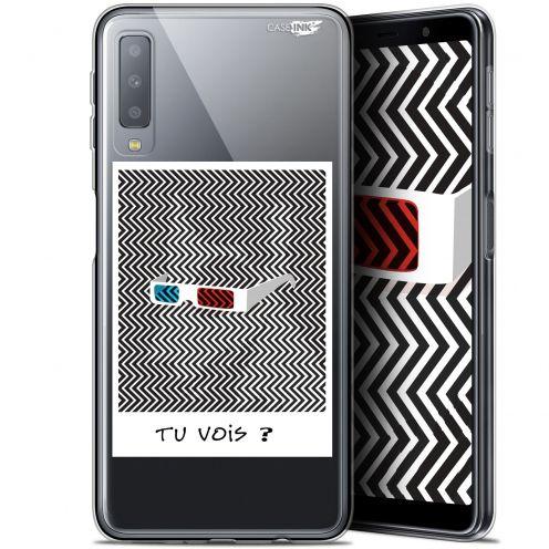 "Coque Gel Samsung Galaxy A7 2018 (A750) (6"") Extra Fine Motif -  Tu Vois ce que Je Vois ?"