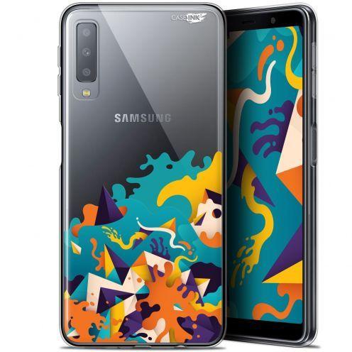 """Coque Gel Samsung Galaxy A7 2018 (A750) (6"""") Extra Fine Motif -  Les Vagues"""
