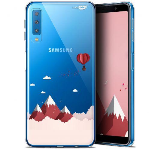 "Coque Gel Samsung Galaxy A7 2018 (A750) (6"") Extra Fine Motif -  Montagne En Montgolfière"
