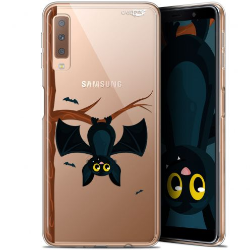 """Coque Gel Samsung Galaxy A7 2018 (A750) (6"""") Extra Fine Motif -  Petite Chauve Souris"""