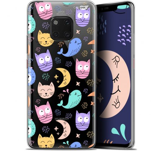 "Coque Gel Huawei Mate 20 Pro (6.39"") Extra Fine Motif - Chat Hibou"
