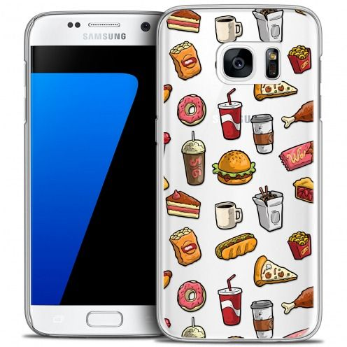 Coque Crystal Galaxy S7 Extra Fine Foodie - Fast Food