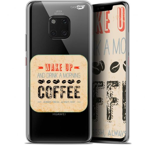 """Coque Gel Huawei Mate 20 Pro (6.39"""") Extra Fine Motif -  Wake Up With Coffee"""
