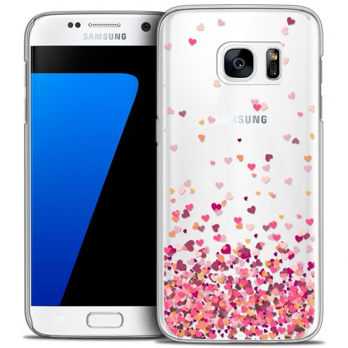 Coque Crystal Galaxy S7 Extra Fine Sweetie - Heart Flakes