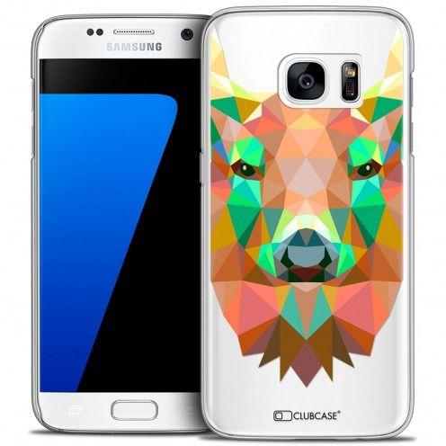 Coque Crystal Galaxy S7 Extra Fine Polygon Animals - Cerf